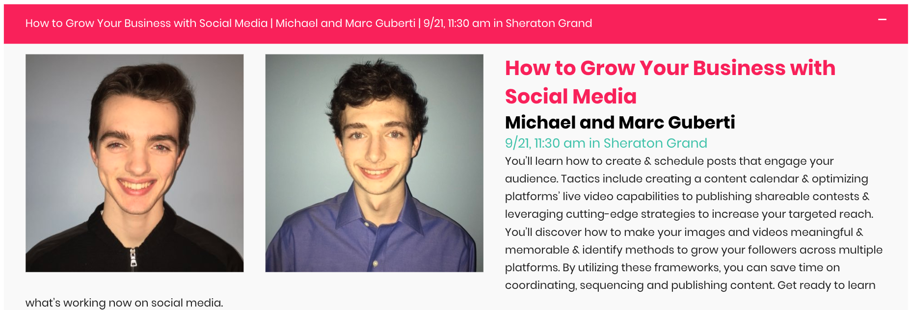 How To Grow Your Business With Social Media | Michael & Marc Guberti